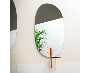 Oval wall-mounted mirror CIGALES | Mirror