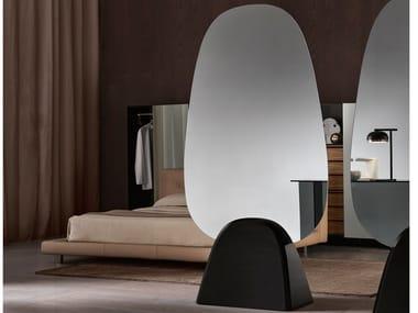 Espelho de apoio oval de vidro TROPIKAL | Espelho