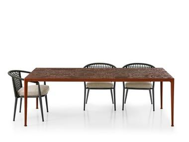 Rectangular porcelain stoneware garden table MIRTO OUTDOOR | Rectangular table
