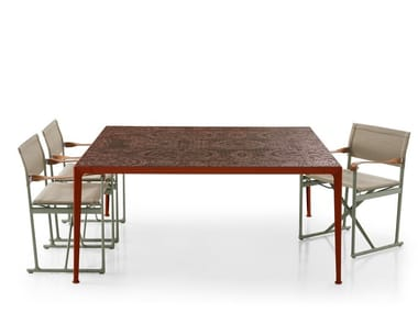 Square porcelain stoneware garden table MIRTO OUTDOOR | Square table