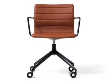 Swivel Eco-leather office chair with 4-Spoke base with armrests MISS   Office chair with 4-Spoke base