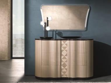 Cassettiera in legno con maniglie integrate MISTRAL | Cassettiera