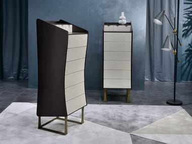Wooden chest of drawers SILOUETTE