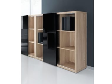 Tall office storage unit with sliding doors MITO | Tall office storage unit