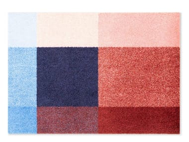 Rectangular recycled material rug MIX BERRY