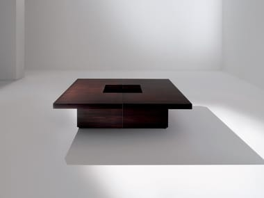Low square wooden coffee table ML08