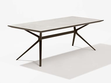 Rectangular porcelain stoneware garden table MOAI | Porcelain stoneware table