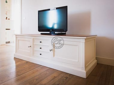Lacquered wooden sideboard TV Cabinet  10