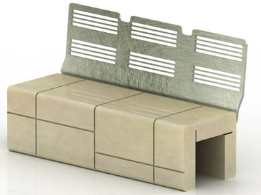 Reconstructed stone Bench MOD | Bench with back