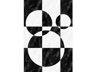 Handmade rug with geometric shapes MOD
