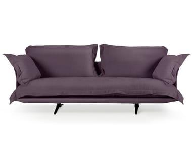 Sled base 3 seater fabric sofa MODEL | Fabric sofa