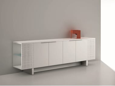 Low office storage unit with hinged doors MODI | Low office storage unit