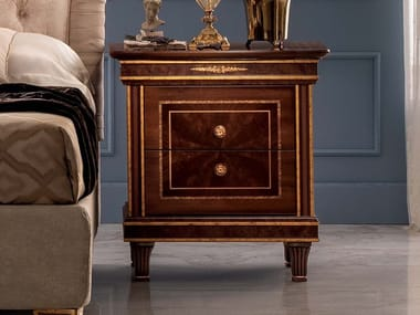 Rectangular wooden bedside table with drawers MODIGLIANI | Bedside table