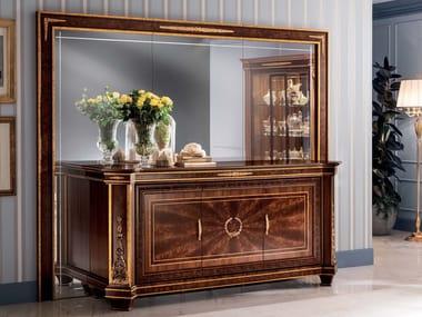 Freestanding rectangular framed mirror MURAL