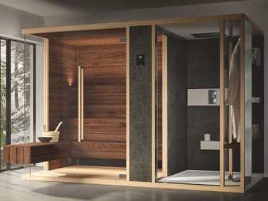 Finnish sauna with shower MODULA S COMBI