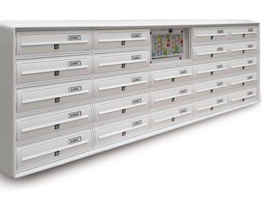 Wall-mounted aluminium mailbox MODULAR | Wall-mounted mailbox