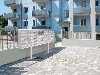Freestanding aluminium mailbox MODULAR | Freestanding mailbox