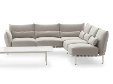 Corner fabric sofa with removable cover BREA | Modular sofa