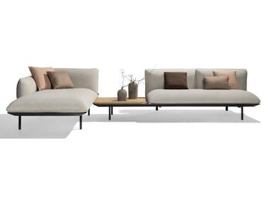Corner modular fabric garden sofa SENJA | Modular garden sofa