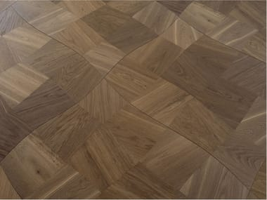 Pavimento geometrico in rovere MODULO DESIGN CLOUD