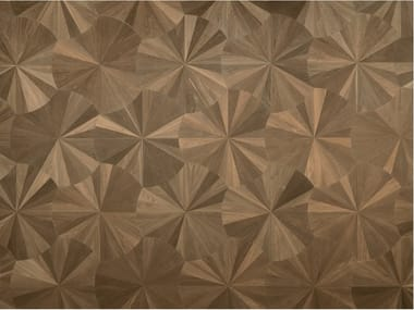 Pavimento geometrico in rovere MODULO DESIGN VENTAGLIO