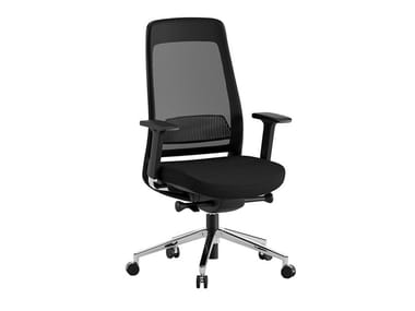 Height-adjustable high-back fabric executive chair MOIRA | Executive chair