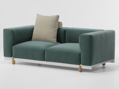 2 seater fabric garden sofa MOLO | Garden sofa
