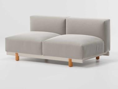 Canapé de jardin 2 places modulable en tissu MOLO | Canapé de jardin modulable