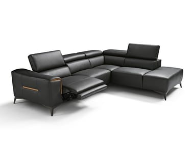 Sectional recliner leather sofa MOMA