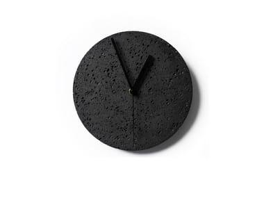 Wall-mounted lava stone clock MOMENT | Wall-mounted clock