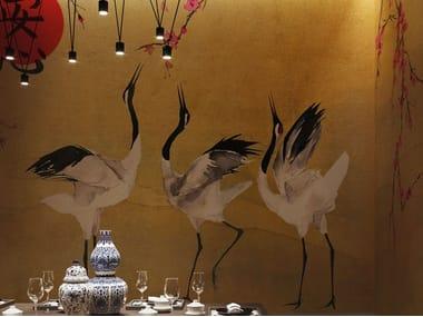 Papel de parede gomado estilo japonês MON CHERRY