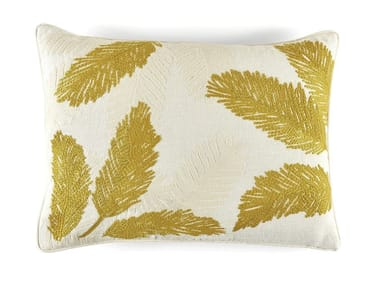 Motif rectangular linen cushion MONA