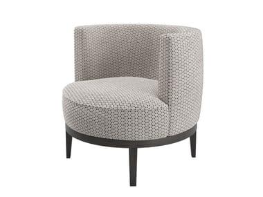 Velvet armchair with armrests MONACO | Easy chair