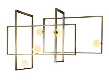 Lampada da soffitto a LED in ottone con dimmer MONDRIAN GLASS CEILING