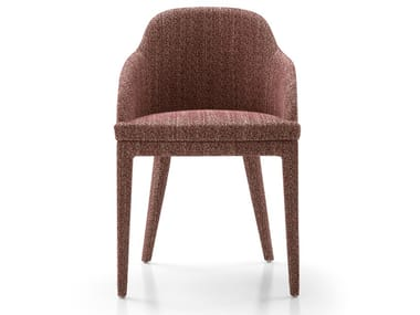 Upholstered fabric chair with armrests MONICA | Fabric chair