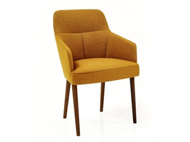 Fabric chair with armrests MONO | Fabric chair