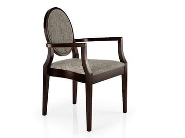 Cadeira empilhável de tecido com braços MONOLISA | Cadeira com braços