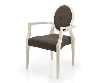 Cadeira empilhável de tecido com braços MONOLISA | Cadeira de restaurante