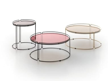 Round metal coffee table MONOLITH | Coffee table