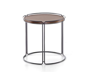 Round metal coffee table MONOLITH | Round coffee table