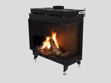 Gas Corner metal Fireplace insert MONROE FR