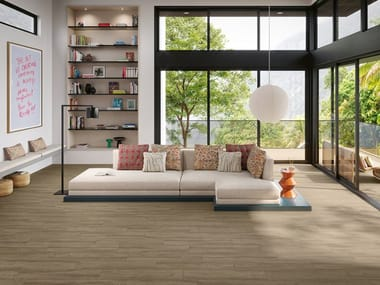 Full-body porcelain stoneware wall/floor tiles with wood effect MONTANA