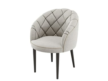 Fabric armchair with armrests MONTE CARLO | Easy chair with armrests