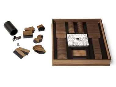 Walnut poker box MONTECARLO