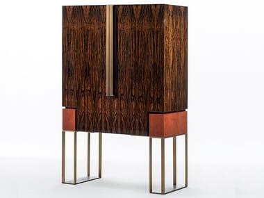 Ebony bar cabinet with integrated lighting MONTENAPOLEONE   Ebony bar cabinet