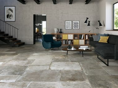 Porcelain stoneware wall/floor tiles with stone effect MONTPELLIER