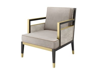 Velvet armchair with armrests MONTREAL