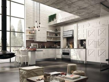 Cucina componibile laccata con penisola MONTSERRAT - COMPOSIZIONE 05