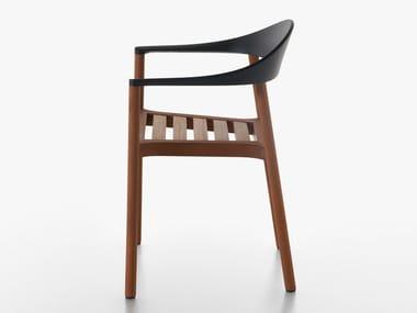 Iroko chair with armrests MONZA | Iroko chair
