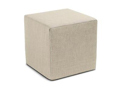 Pouf cubo in twill unito MOOMBA   Pouf quadrato